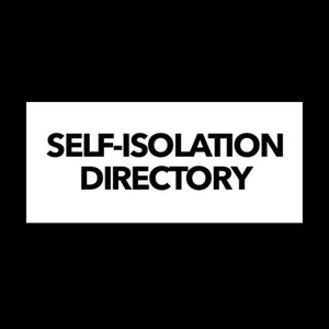 The Self-Isolation Directory: a daily resource list.