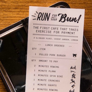 Run For Your Bun: The cafe where exercise pays