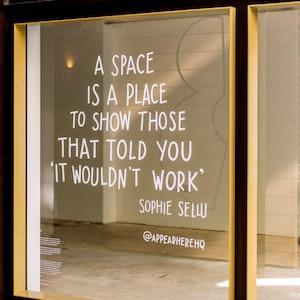 Les femmes ne se battent pas pour leur espace. Elles le créent.